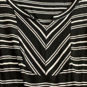 Olivia Moon Tops - Olivia moon black white stripe sleeveless top S